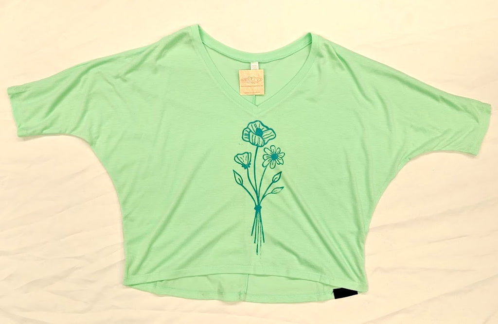 Wildflower Ladies V Crop Top - Contour Creative