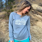 Mountain Wash Ladies Sweatshirt - Contour Creative