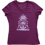 Mandala Stack Ladies V Tee - Contour Creative