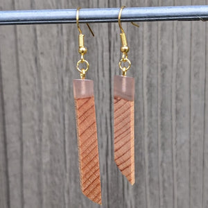 Wood & Resin Earrings #2308
