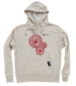 Poppies French Terry Hoodie - Contour Creative
