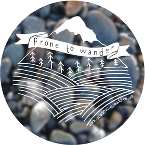 Prone to Wander Sticker - Contour Creative