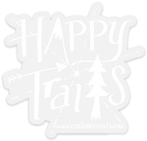 Happy Trails Sticker - Contour Creative