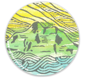 Glacier Peak Sticker - Contour Creative