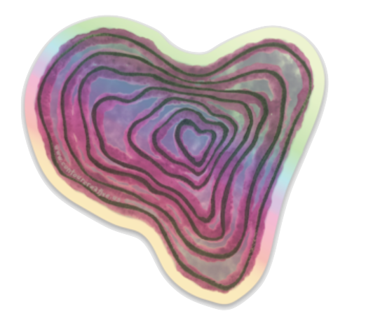 Contour Heart Holographic Sticker - Contour Creative