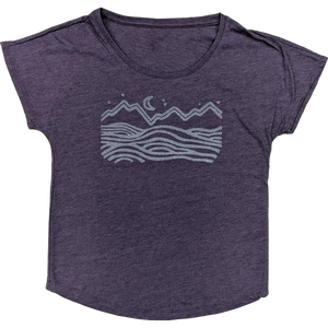 Under the Stars Ladies Roomy Tee - Contour Creative