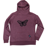 Butterfly Ladies Button Hood