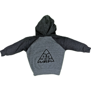Find Me in the Wild Kiddo Zip Hood - Contour Creative