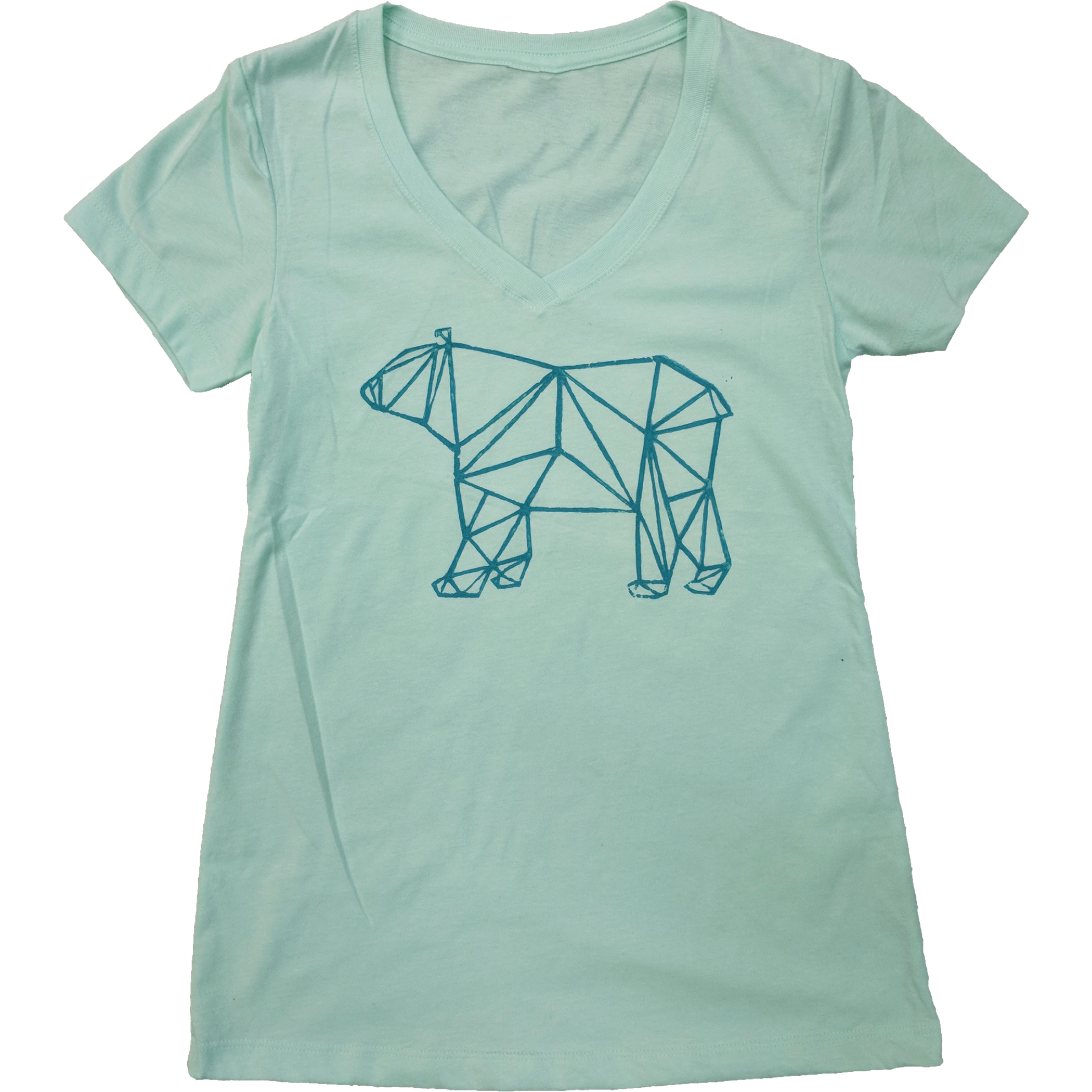 Geometric Bear Ladies V-Neck - Contour Creative