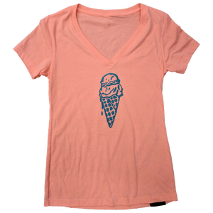 Ice Cream Ladies V-Neck - Contour Creative