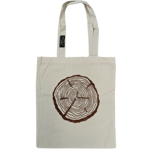 Log Round Organic Cotton Tote - Contour Creative
