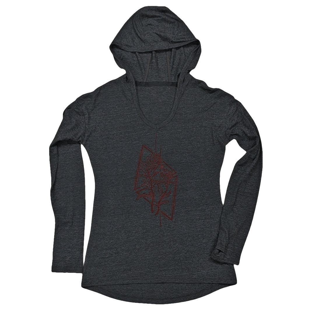 Paintbrush Ladies Long Sleeve Hood