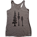 Tall Tall Trees Ladies Racer Tank - Contour Creative