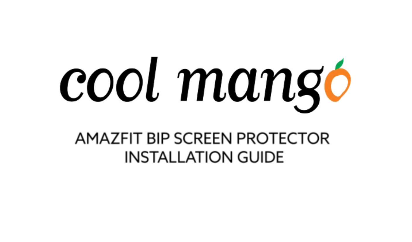 How to install GoFree Screen Protector for Amazfit Bip Smart Watch