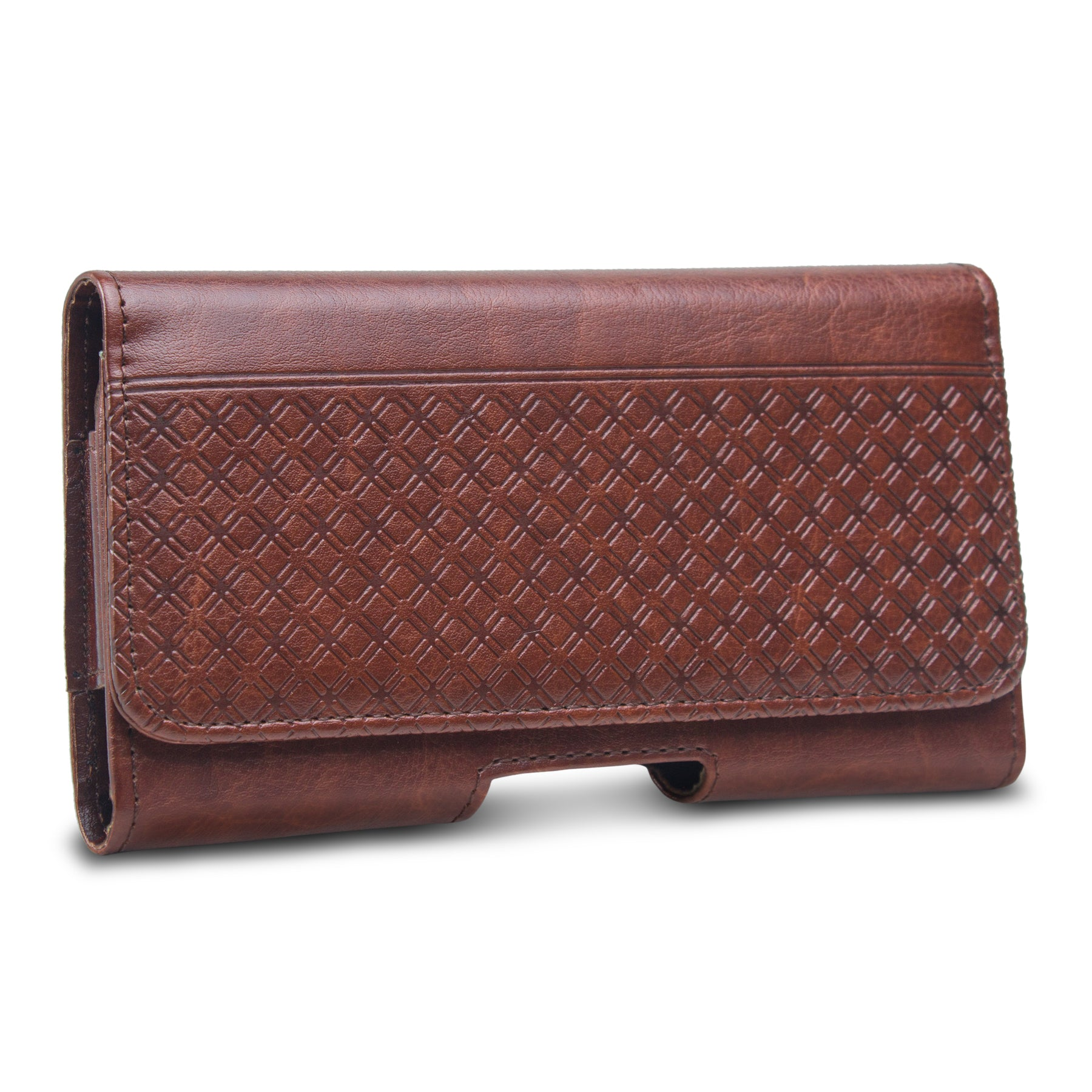 Phone Sleeve Pouch with Magnetic Lock for 5.2 Inch to 6.2 Inch Phones (Walnut Brown)