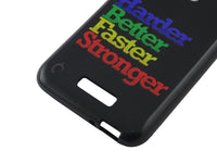 Flexible & Low Profile Printed TPU Back Cover for CoolPad Note 3 Lite – Harder, Better, Faster, Stronger: Motivational Quote