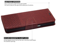 Ceego Luxuria Flip Cover for Elephone P9000 - Walnut brown