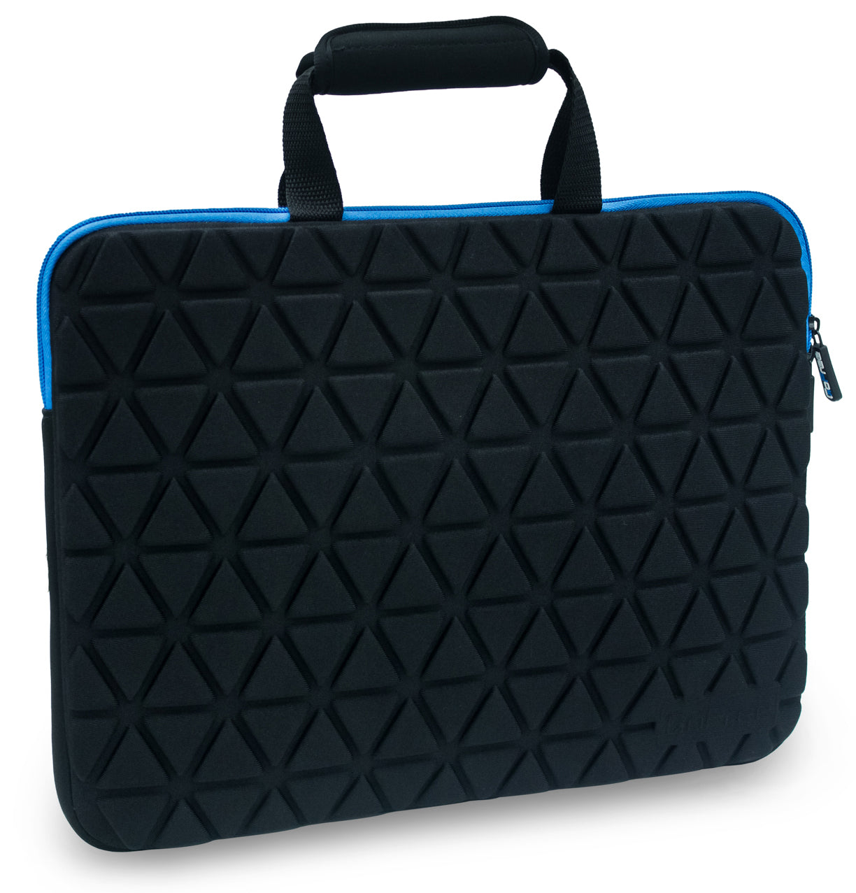 GoFree Guardian Series Ultra Compact 13 inch Laptop Sleeve Bag for Macbook Air / Pro & Laptops Up to 13.3 inches (Black w/ Azure Blue Accents)