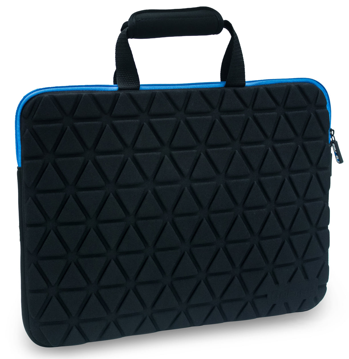 GoFree Guardian Series Ultra Compact 15 inch Laptop Sleeve Bag for 14/15/15.6 inch laptops (Black w/ Azure Blue Accents)