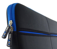 GoFree Slim Line 15 inch Laptop Sleeve - Super Compact & Uber Stylish -  Black w/ Azure Blue Accents