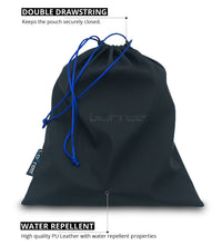GoFree Universal Drawstring Headphone Protection Pouch Bag (Midnight Black)