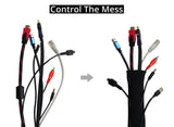 GoFree Neoprene Cable Manager Sleeve for TV / PC / Home Theater Cables & Wires