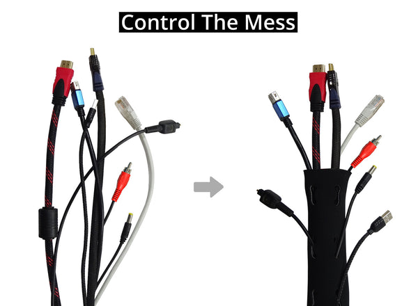 GoFree Neoprene Cable Manager Sleeve for TV / PC / Home Theater ...