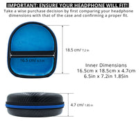 GoFree HeadPhone Case – For Over The Ear Head Phones (Size: Medium)