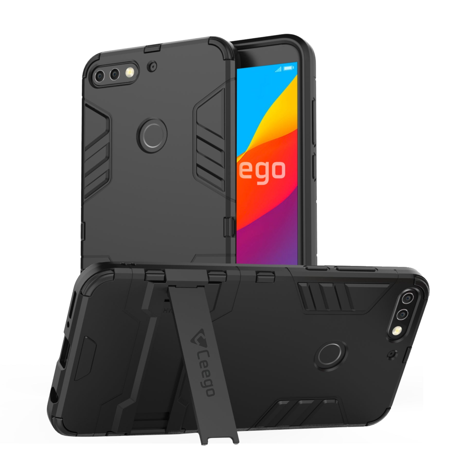Ceego Stealth Defence Back Case for Honor 7C  – Matte Black