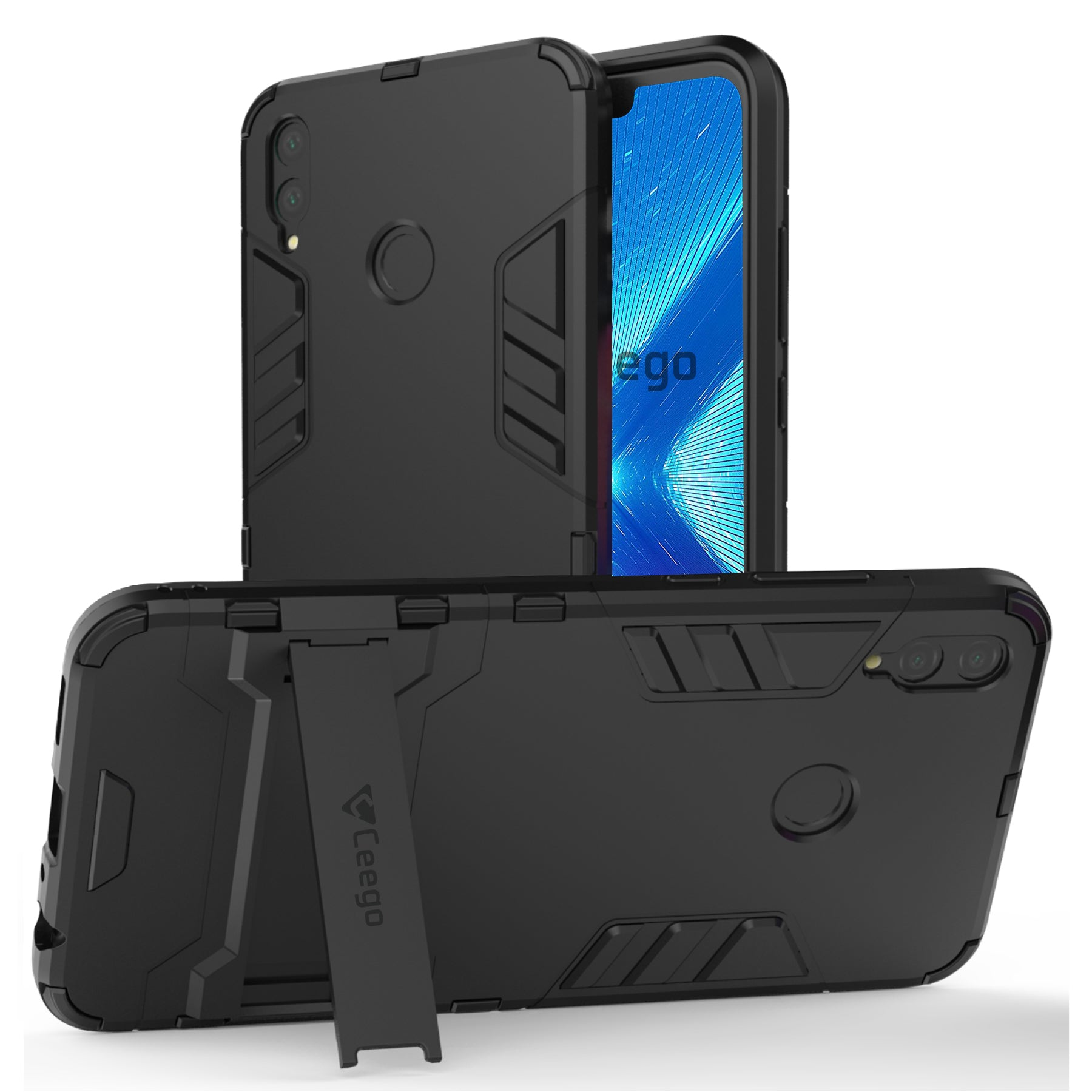 Ceego Stealth Defence Back Case for Honor 8x  – Matte Black