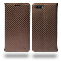 Ceego Compact Carbon Fiber Flip Cover for Huawei Honor View 10 With Magnetic Lock