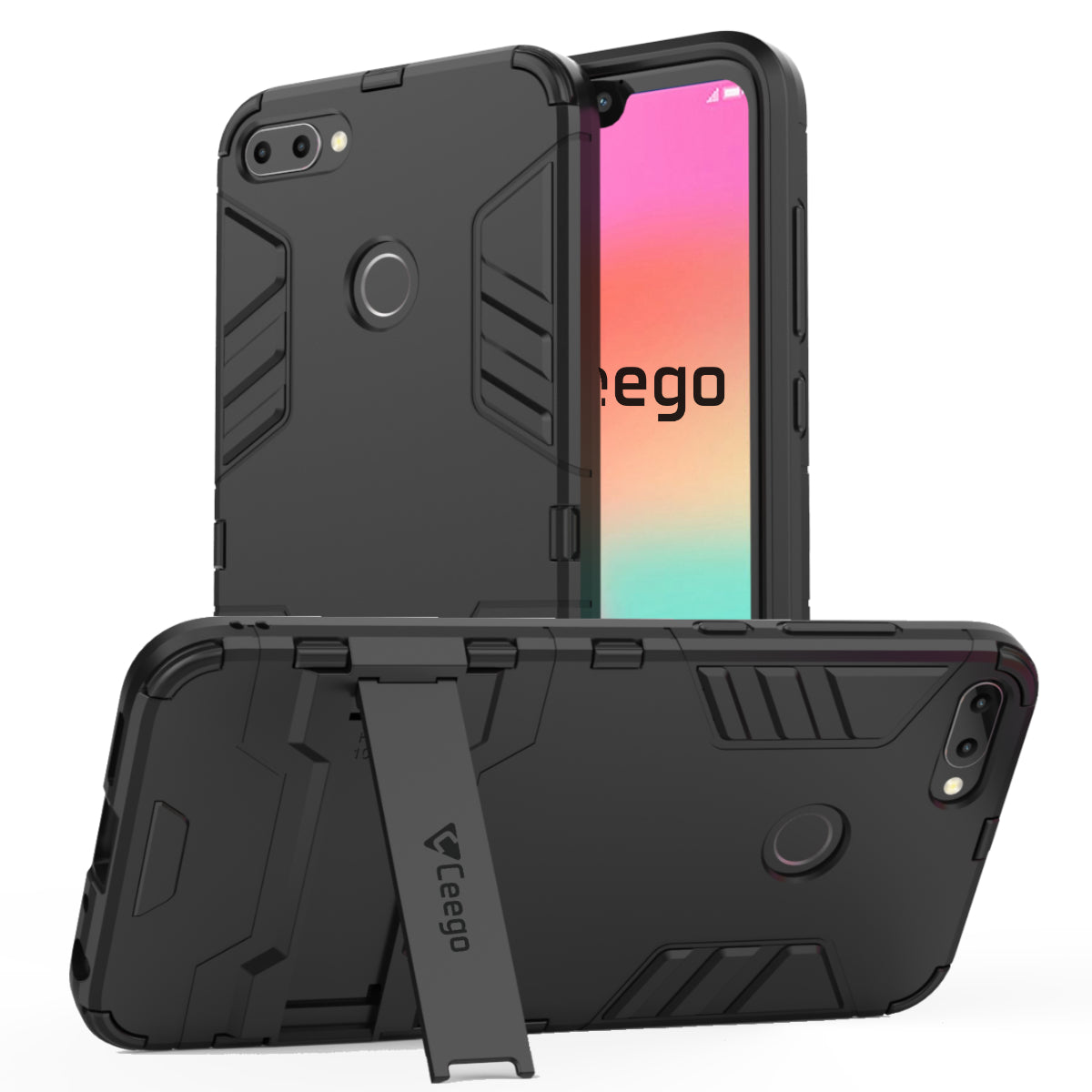 Ceego Stealth Defence Back Case for Honor 9N – Matte Black