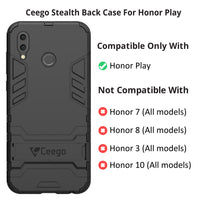Ceego Stealth Defence Back Case for HONOR PLAY  – Matte Black