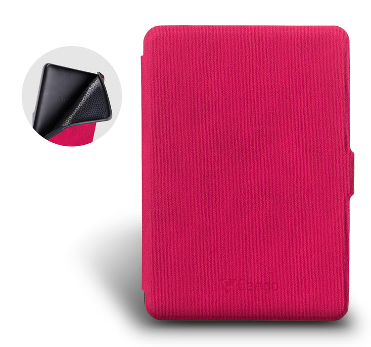 Ceego Rico Series Flip Cover for Kindle PaperWhite (Happy Pink)