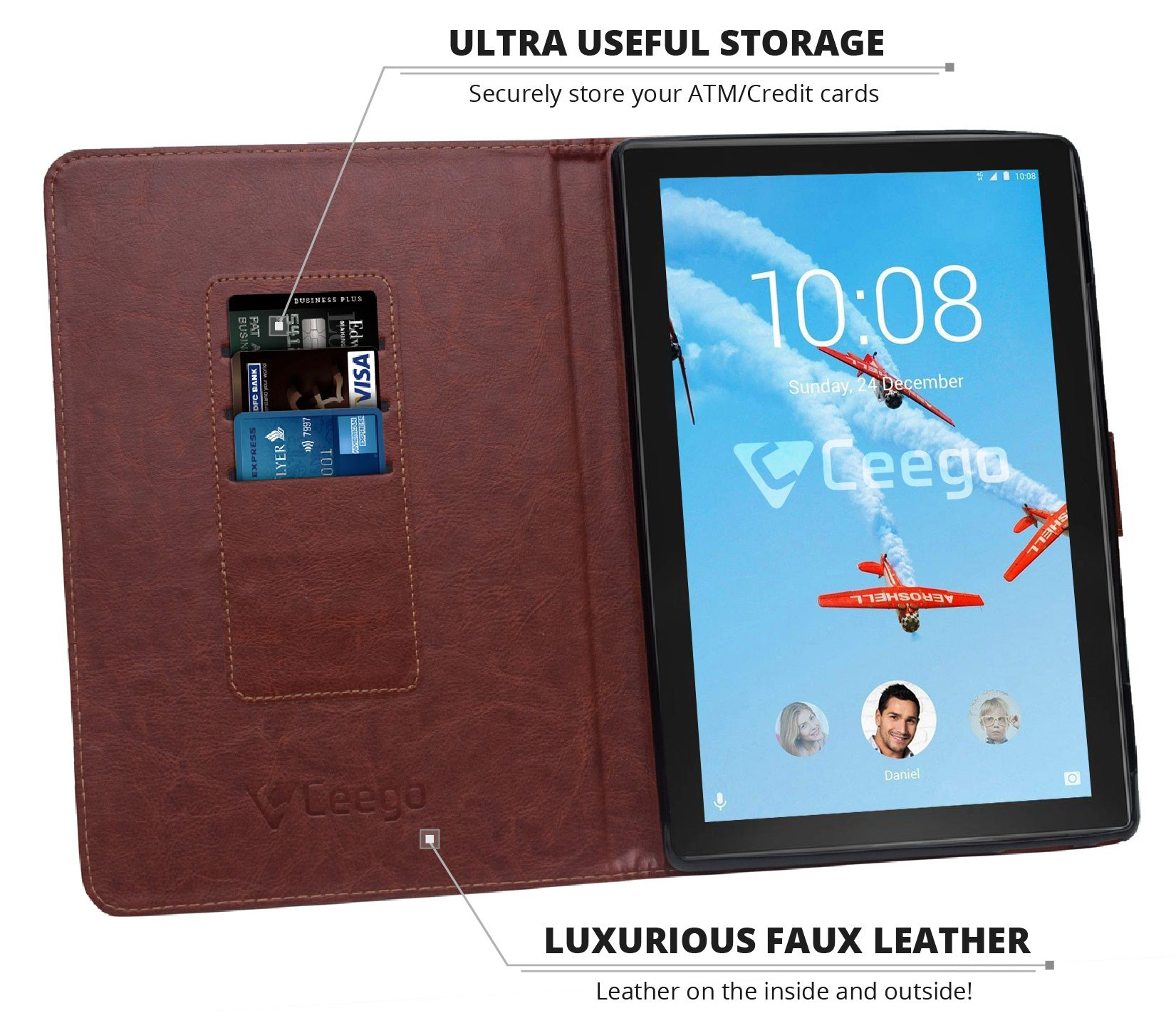 Ceego Tablet Case for Lenovo Tab 4 10 ( Walnut Brown) – Cool Mango