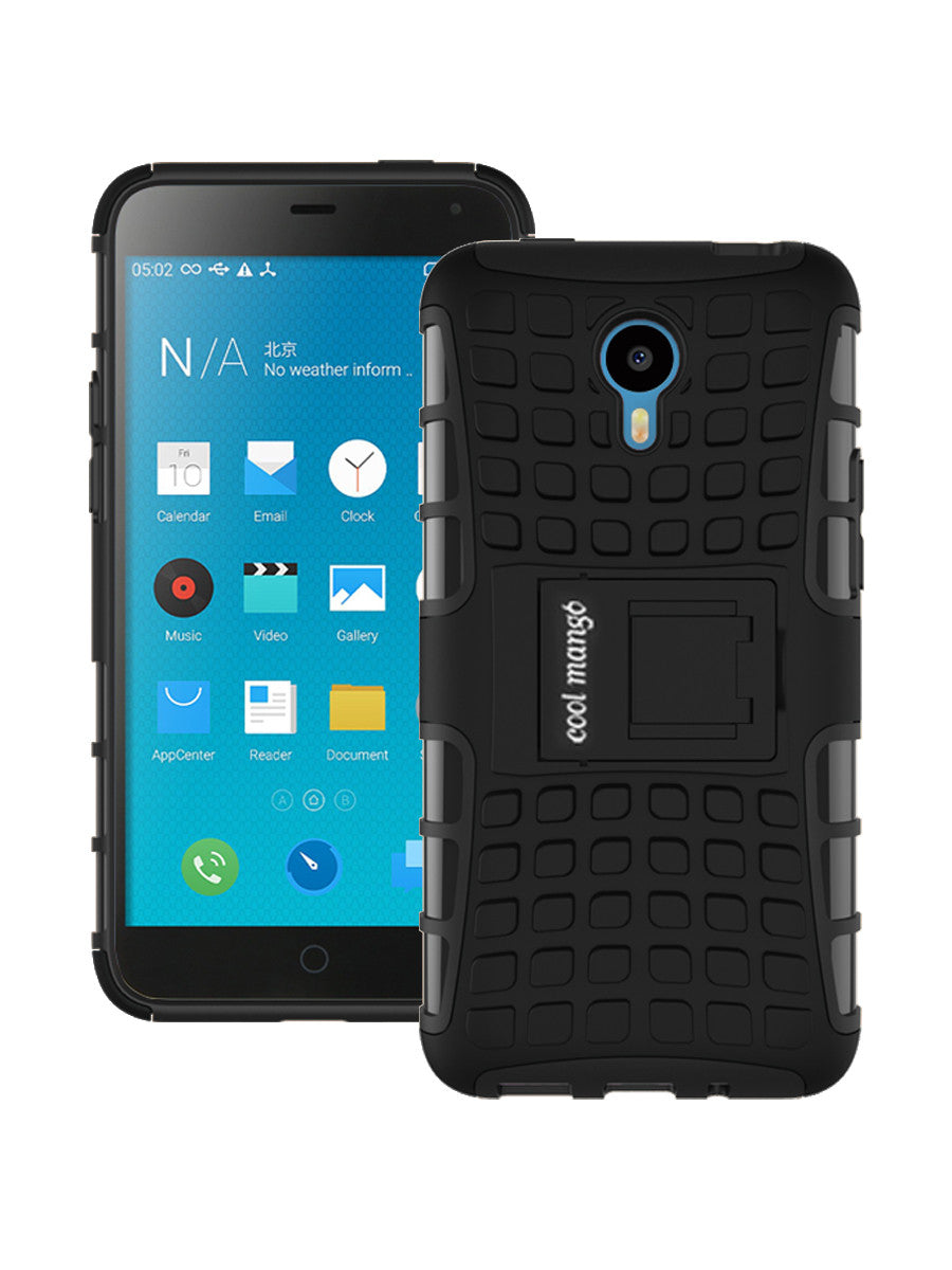 Dual Armor Hybrid Protection Case for  Meizu m1 note - Black