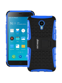 Dual Armor Hybrid Protection Case for  Meizu m1 note - Blue