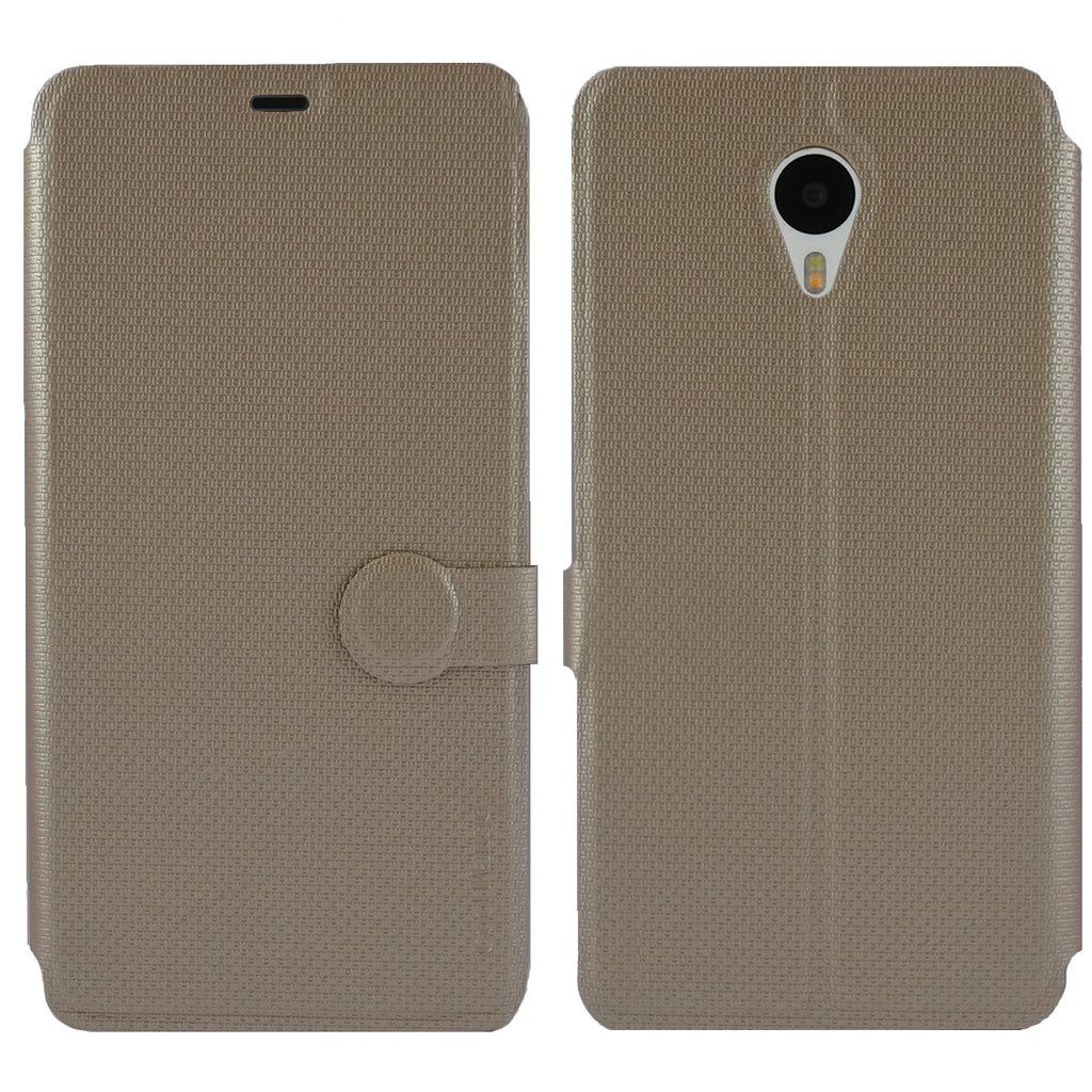 iMaterial Flip Cover for Meizu m1 note - Royal Gold