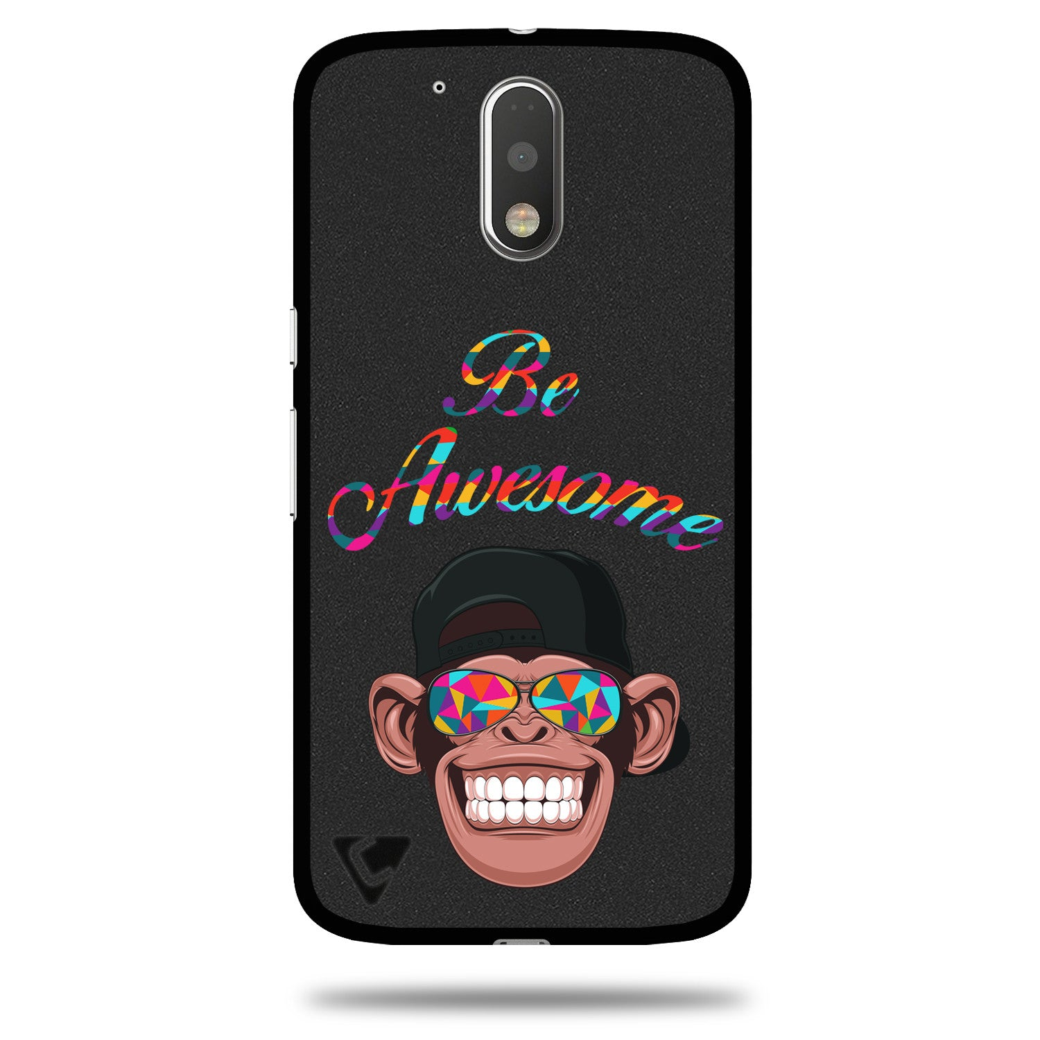 Flexible & Low Profile Printed TPU Back Cover for Moto G4 Plus & Moto G4 – Be Awesome: Motivational Quote