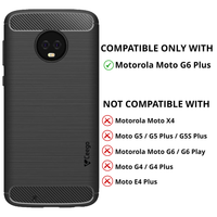 Ceego Carbon Fiber Shield Back Case for Motorola Moto G6 Plus  –Matte Black