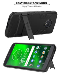 Ceego Stealth Defence Back Case for Motorola Moto G6 Plus  – Matte Black