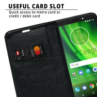 Ceego Flip Cover for Moto G6 Play  (Black)