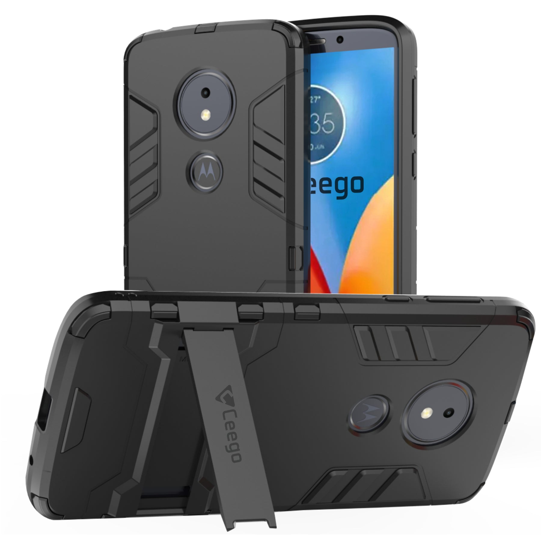 Ceego Stealth Defence Back Case for Moto G6 Play  – Matte Black