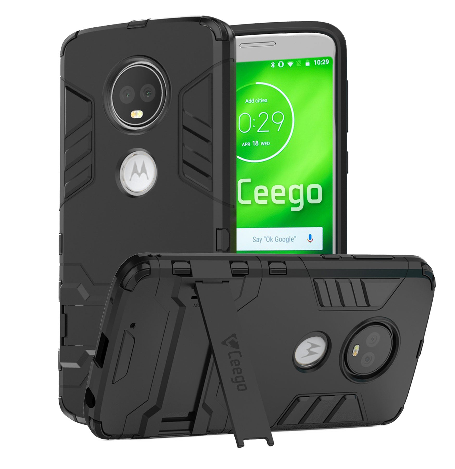 Ceego Stealth Defence Back Case for Motorola Moto G6  – Matte Black