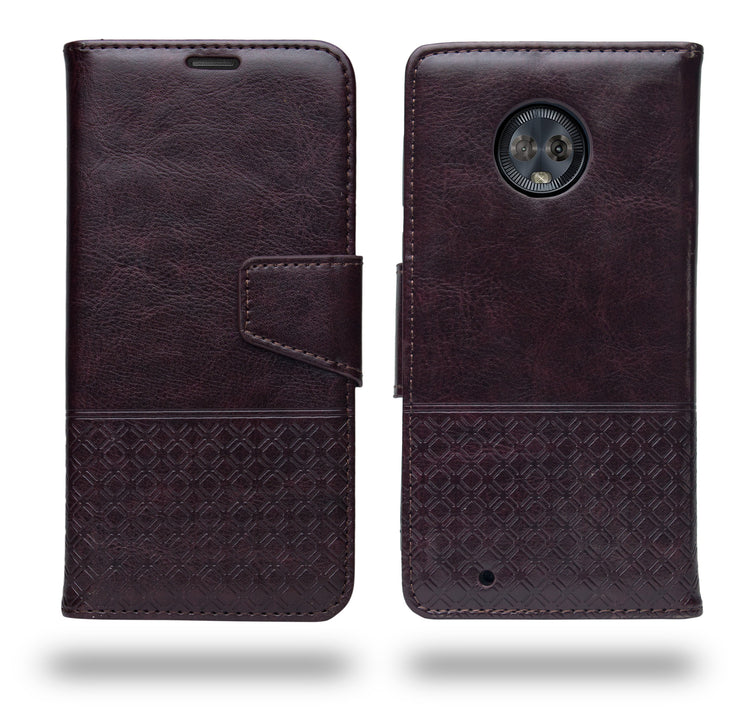 Ceego Luxuria Flip Cover for Moto G6  - Chestnut Brown