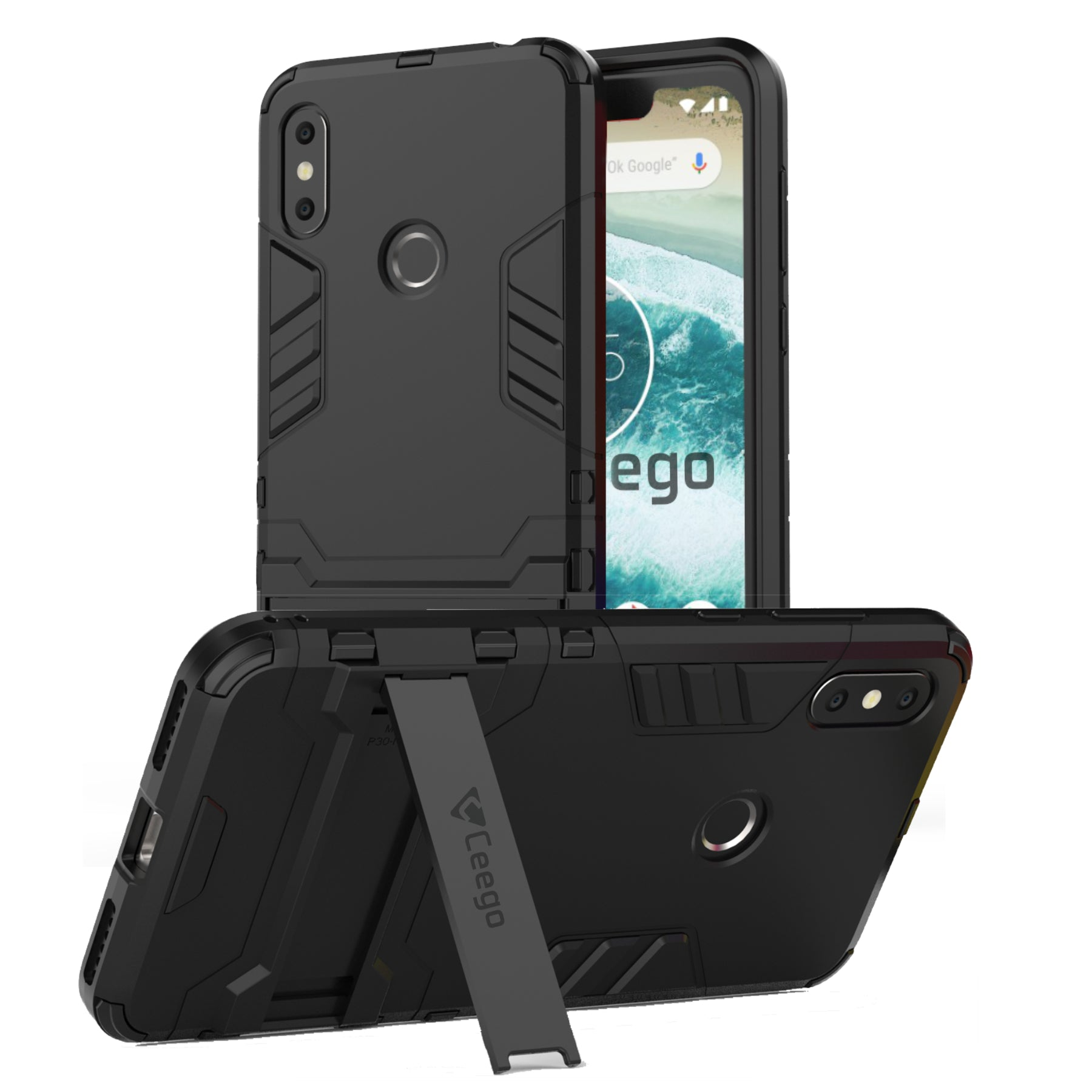 Ceego Stealth Defence Back Case for Motorola One Power – Matte Black