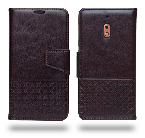 Ceego Luxuria Flip Cover for Nokia 2.1 - Chestnut Brown