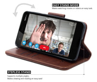 Ceego Luxuria Flip Cover for Nokia 2 - Walnut brown