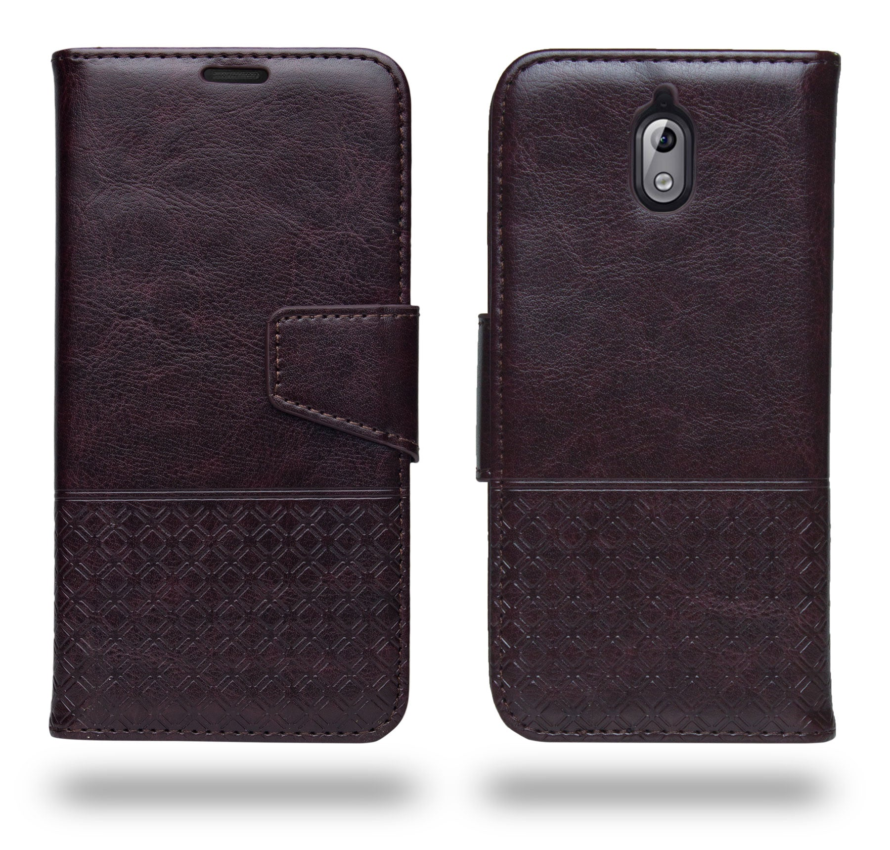 Ceego Luxuria Flip Cover for Nokia 3.1 - Chestnut Brown