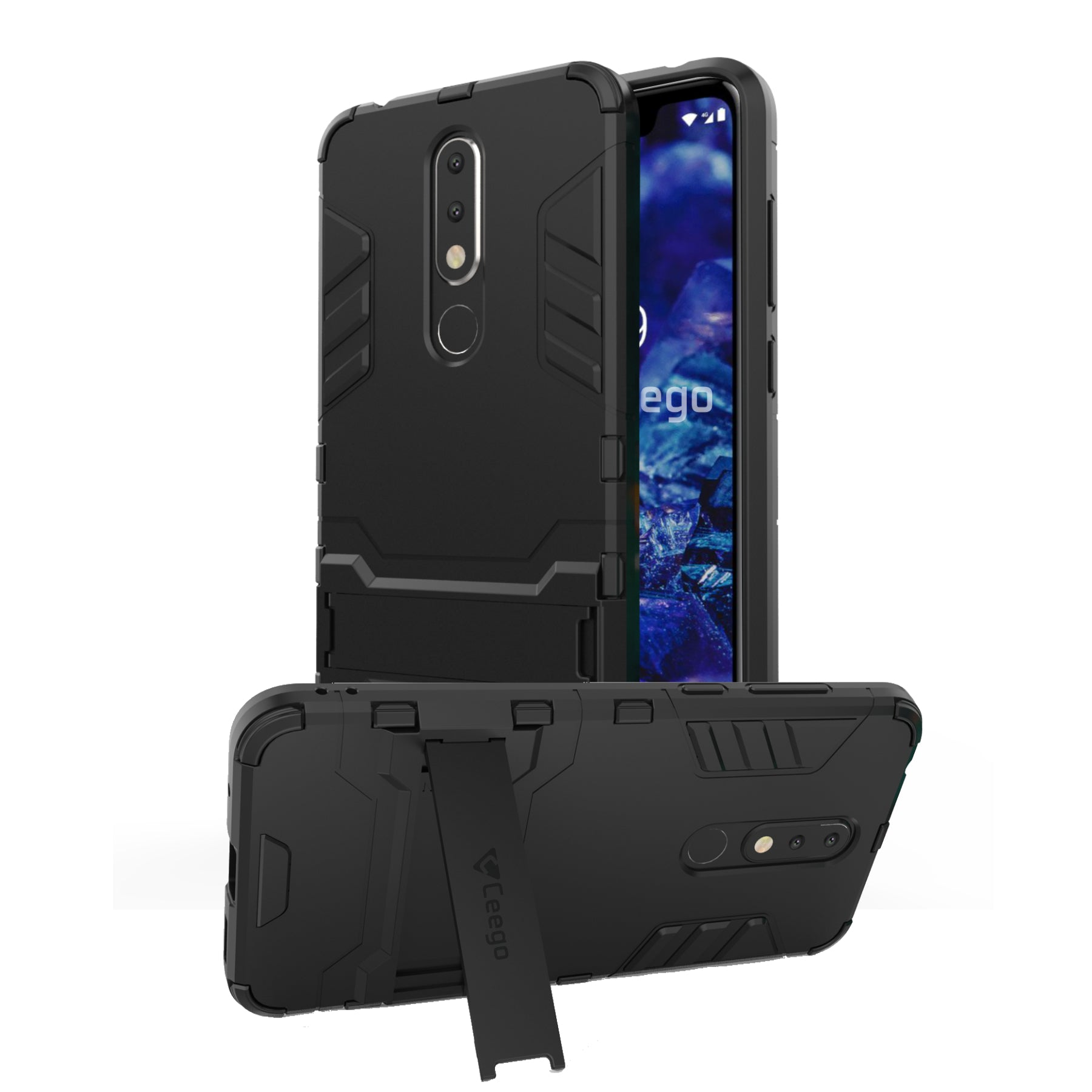 Ceego Stealth Defence Back Case for Nokia 5.1 Plus – Matte Black